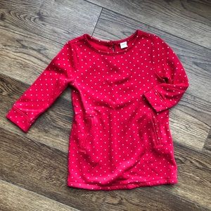 👧Old Navy 2T Christmas Sweater Dress Red Silver